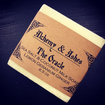The Oracle Sea Salt and Coconut Milk Cold Process Soap - Plant Based with Herbs & Essential Oils