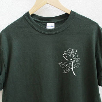 Rose Unisex Dark Green Shirt S-5XL
