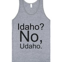 Idaho?-Unisex Athletic Grey Tank
