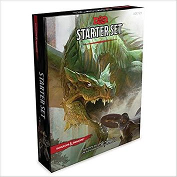 Dungeons & Dragons Starter Set (Six Dice, Five Ready-To-Play D&d Characters with Char