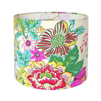 Drum Lamp Shade SALE! Lampshade Portobello Vase by PK Lifestyle Williamsburg Blossom floral Ready to Ship