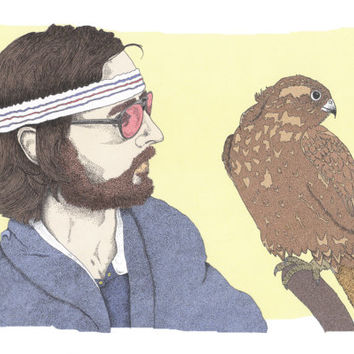 Richie Tenenbaum The Royal Tenenbaums Wes Anderson Illustration Art Print