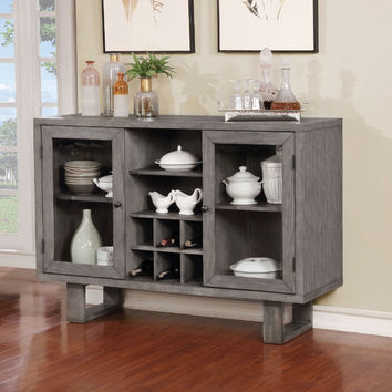 Furniture of america CM3545-SV Jadyn gray finish wood dining sideboard server console table