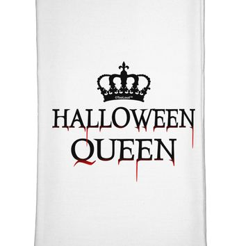 Halloween Queen Flour Sack Dish Towel by TooLoud