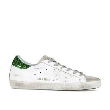 ONETOW Golden Goose Deluxe Brand Superstar Green/White Sneakers