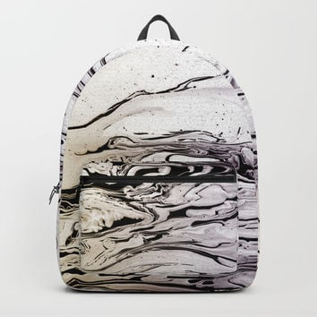 LIQUID MARBLED & PASTEL Backpacks by Pia Schneider