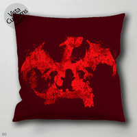 red charizard pokemon   pillow case, cover ( 1 or 2 Side Print With Size 16, 18, 20, 26, 30, 36 inch )