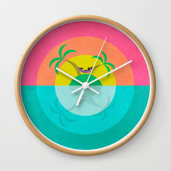 Summer Island Unicorn Wall Clock by That's So Unicorny