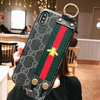 GUCCI Fashionable Bee Mobile Phone Cover Case For iphone 6 6s 6plus 6s-plus 7 7plus 8 8plus X XSMax XR