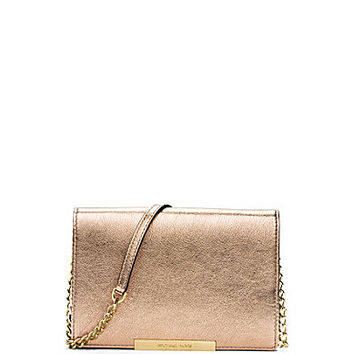 MICHAEL Michael Kors Lana Metallic Clutch Wallet - Pale Gold