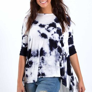 Freeloader Clothing Tie Dye Shirt in Navy FT1687-C
