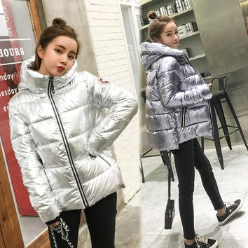Special Offer Bright Coat Jackets For Women Winter Warm Jacket With Cotton Lining Bread Bars Fashionable Bumper Outerwear