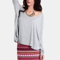 Long Layover Oversized Top