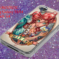 ariel little mermaid siren Case for iPhone 4/4S/5/5S/5C, Samsung Galaxy S3/S4, Ipod Touch 4/5, htc One x/x+/S