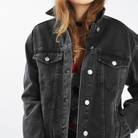 MOTO Denim Oversized Jacket - Jackets & Coats - Clothing