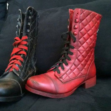 knight shoes custom arkham knight harley quinn boots from maisedesigns on