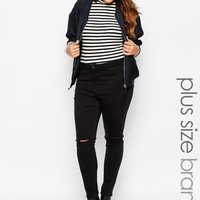 New Look Inspire | New Look Inspire Ripped Knee Skinny Jean at ASOS