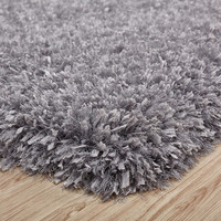 Crystal Shag Silver Hand Tufted Area Rug