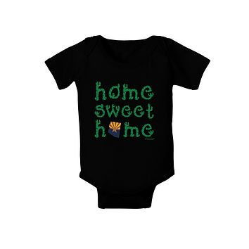 Home Sweet Home - Arizona - Cactus and State Flag Baby Bodysuit Dark by TooLoud