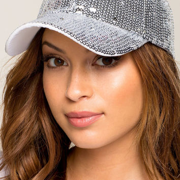 All Over Sequins Cap