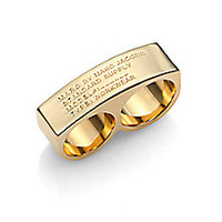 Marc by Marc Jacobs - Standard Supply Double Ring/Goldtone - Saks Fifth Avenue Mobile