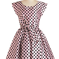 ModCloth Vintage Inspired Mid-length Cap Sleeves Fit & Flare The Nicolette Dress