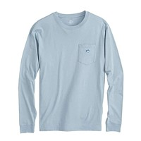 Long Sleeve Embroidered Pocket T-Shirt by Southern Tide