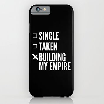 SINGLE TAKEN BUILDING MY EMPIRE (Black & White) iPhone & iPod Case by CreativeAngel