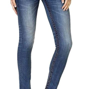 MDIGYW3 Miss Me Full Blossom Faux Flap Pocket Skinny Jeans
