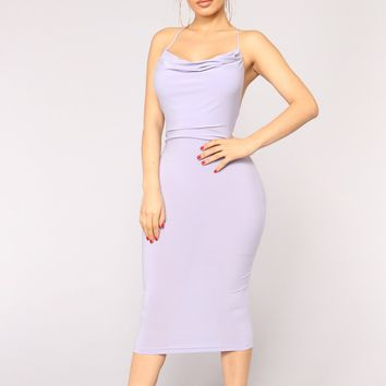 Night With My Lover Dress - Lavender