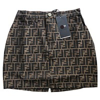 FENDI Trending Women Stylish FF Letter Jacquard Short Skirt