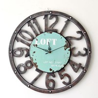 Novelty 16 Inch Wall Clock Hollow Out Digital Vintage Wood Wall Clocks Watches Roman Style Circular Oversized Gifts Crafts