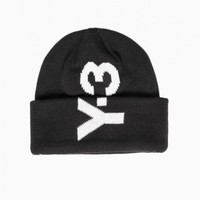 Logo beanie from F/W2015-16 Y-3 by Yohji Yamamoto collection in black