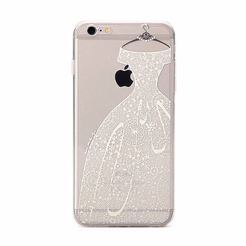 Pretty White Lace Wedding Dress Bride's Case for iPhone