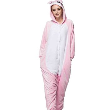 Pink Rabbit Adult Hoodie Onesuit Sweater