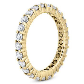 1.15CT Diamond Eternity Ring 14 KT White or Yellow Gold Size (4-9)