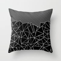 Ab Lines 45 Black Throw Pillow by Project M
