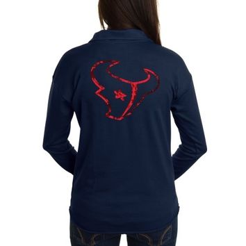 Victoria's Secret PINK Houston Texans Ladies Half-Zip Sweatshirt - Navy Blue
