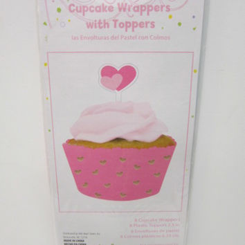 Cupcake Wrapper with Topper Pink