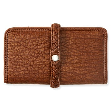 Faux Leather Magnetic Snap Bifold Wallet