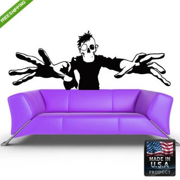 Wall Decals Art Decor Decal Sticker Beautiful Zombie Men Horror Bedroom z188