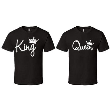King Queen Write Black T-shirt
