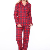 Plaid Pajama Set - Red Plaid