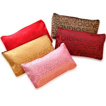 Beautician Female Lovely Small Nylon Package Travel Portable Cosmetic Bag Wash Bag Cosmetic Pouch Women Makeup Case Organizer