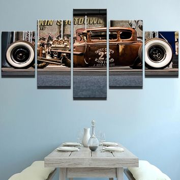 Rod 23 Retro Vintage Car Model Canvas Print - Wall Art Decor