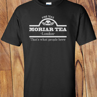Trendy Pop Culture Hotter Topic Sherlock Holmes Moriar tea Moriarty thats what people brew t-shirt tshirt Unisex Toddler Ladies All Sizes