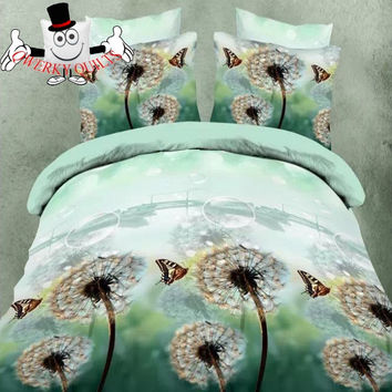 Beautiful Butterfly Dandelion Bedding Set and Quilt Cover