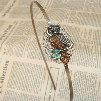 Steampunk Owl 52301 Headband Vintage Style Original by sallydesign