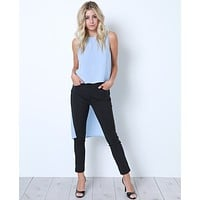 Step Into The Past Cropped Trouser - Black