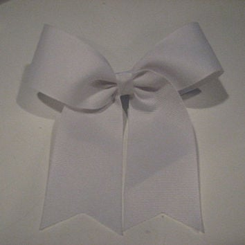 "3"" Base -  Texas Big White Cheer Bow"